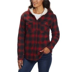 Boston Traders Sherpa Lined Hooded Flannel